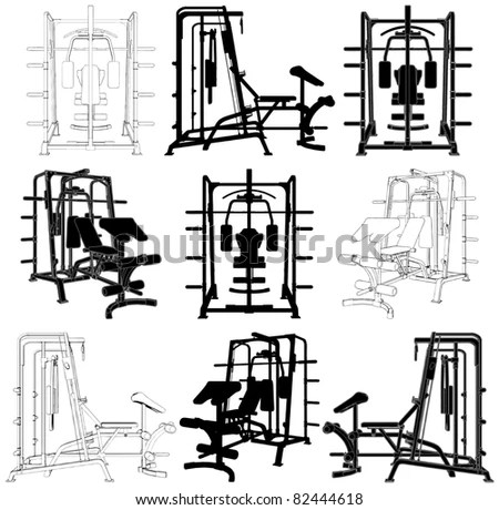 Gym Equipment: Gym Equipment Vector