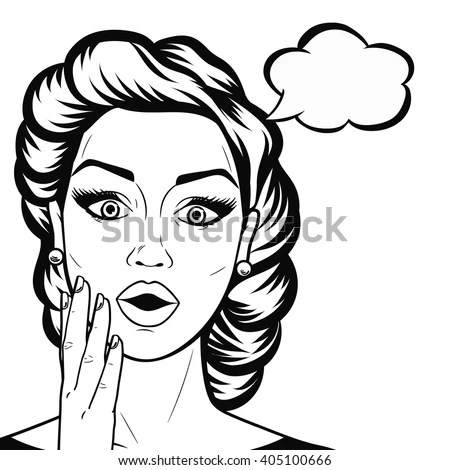Vector Illustration Young Afroamerican Lady Stock Vector