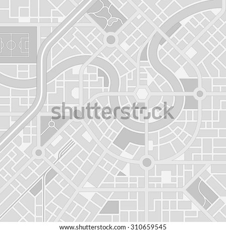 Generic City Map Pattern Imaginary Location Stock Vector