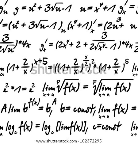 Seamless Algebra Symbols Background Wallpaper Design Stock