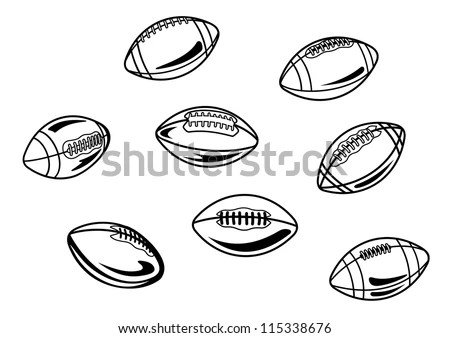 Rugby Ball Stock Photos, Royalty-Free Images & Vectors