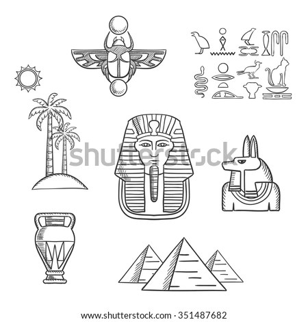 Stone Ankh Coloring Pages