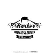 barber symbol hair salon emblem