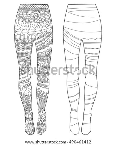 Vector Drawing Pair Slim Fit Ripped Stock Vector 304125902