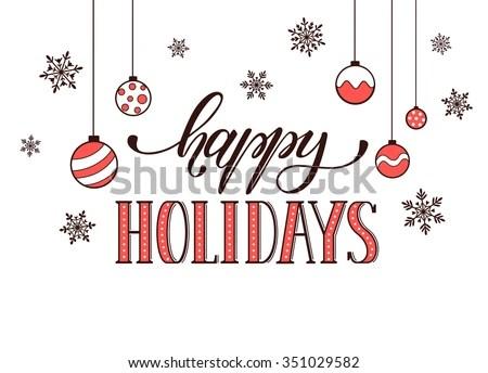 happy holidays stock royalty-free