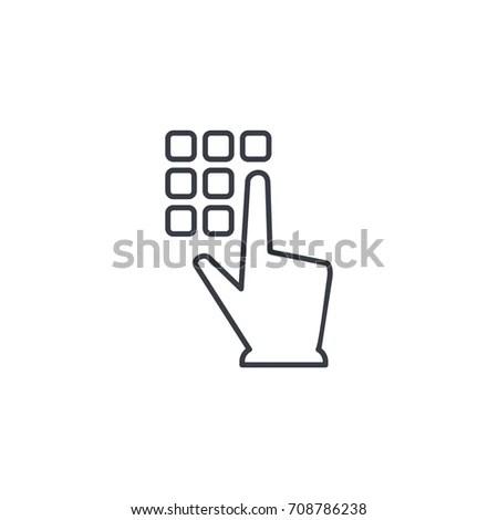Pin Code Keypad Access Security Lock Stock Vector