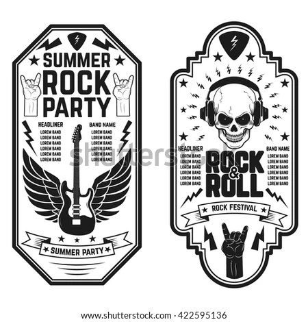 Rock And Roll Background Stock Photos, Images, & Pictures