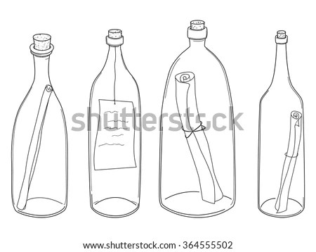 Message In A Bottle Stock Images, Royalty-Free Images