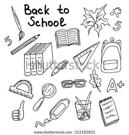 Back School Background Design Template Big Stock Vector