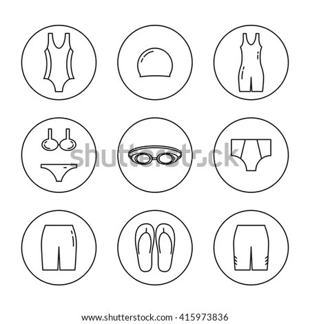 All Types Mens Underwear Pants Socksthong Stock Vector