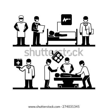 Surgeons Operating Doctor Holding Medical Records Stock