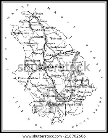 Haute Marne Map Stock Photos, Royalty-Free Images