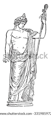Dionysus Antique Statue Stock Images, Royalty-Free Images