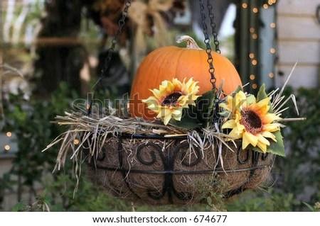 Fall Leaves Clip Art Wallpaper Pumpkin Sunflower Planter Stock Photo 674677 Shutterstock