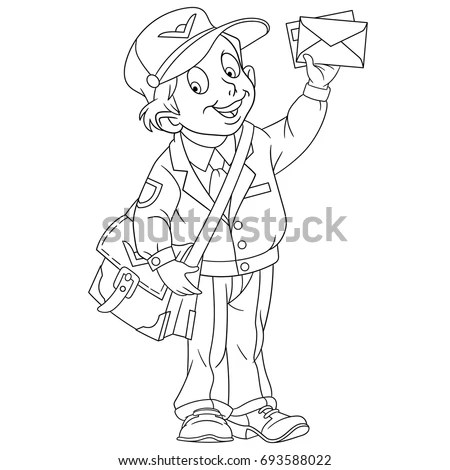 Mailman coloring pages