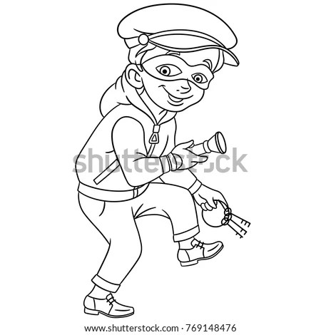 Cartoon Criminal Stock Images, Royalty-Free Images