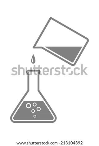 Medical Test Bottle On Bunsen Burner Stock Vector 71442658