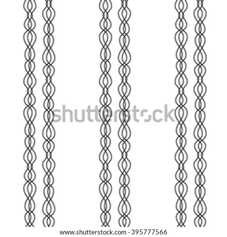 Nautical Vintage Rope Vector Dividers Elements Stock