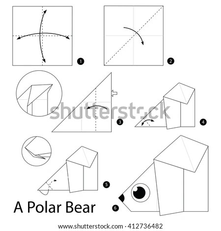 Origami Polar Bear Instructions