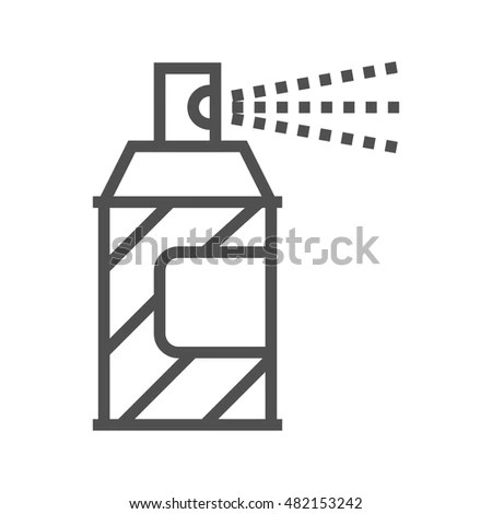 Spray Chemicals Single Flat Icon On Stock Vector 262901135