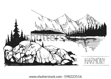 Mountain Scene Stock Images, Royalty-Free Images & Vectors