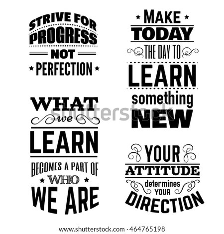 Collection Quote Typographical Background About School