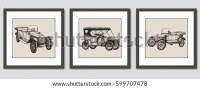 Frames On Wall Vector Hand Drawn Stock Vector (Royalty ...