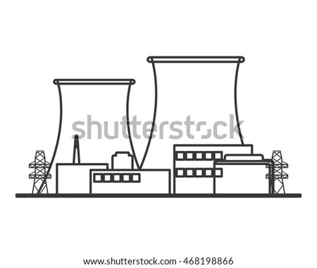 Nuclear Generator Cooling Tower Stock Images, Royalty-Free