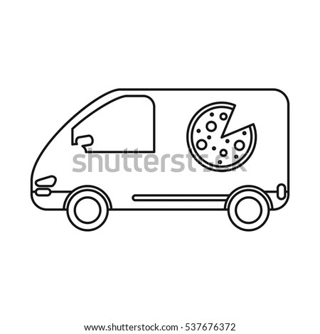 Pizza Delivery Van Stock Images, Royalty-Free Images