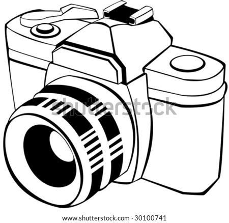 Camera Outline Stock Images, Royalty-Free Images & Vectors