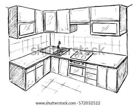 Kitchen Drawing Stock Images, Royalty-Free Images