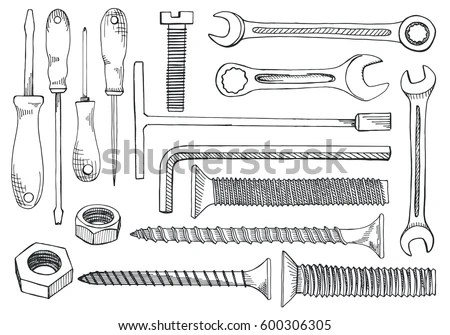 Sketch Torx Screwdriver Coloring Pages