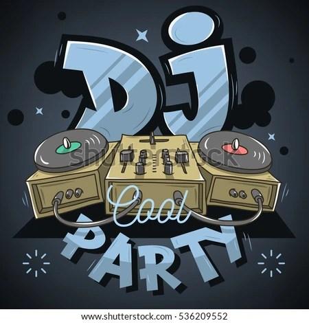 Memphis Car Audio Wallpaper Dj Cool Party Design Event Poster Stock Vector 531889105