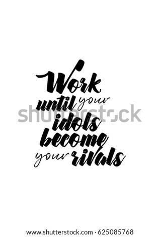 Lettering Quotes Motivation About Life Quote Stock Vector