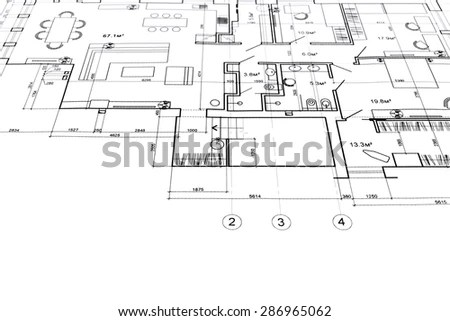 Architectural Drawings Sections Plan Background