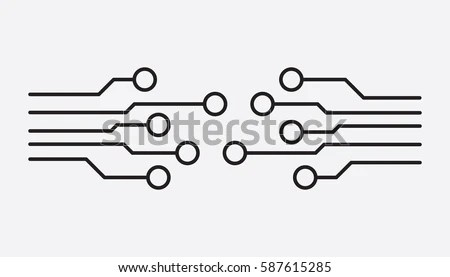 Circuit Board Icon Technology Scheme Symbol Stock Vector