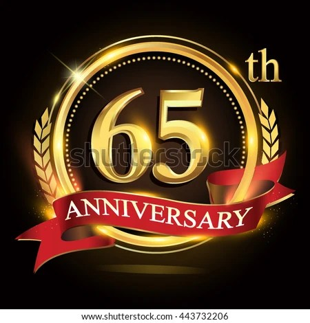 65th anniversary clip art