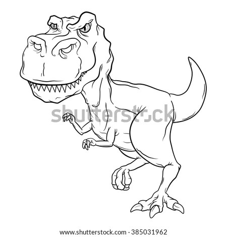 T Rex Cartoon And Silhouette Vector Sohadacouri
