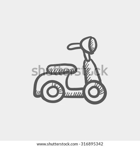 Scooter Silhouette Symbol Icon Simple Black Stock Vector