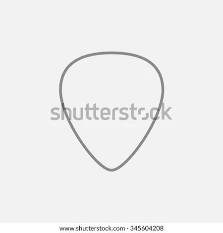 Guitar Pick Line Icon Web Mobile Stock Vector 345604208