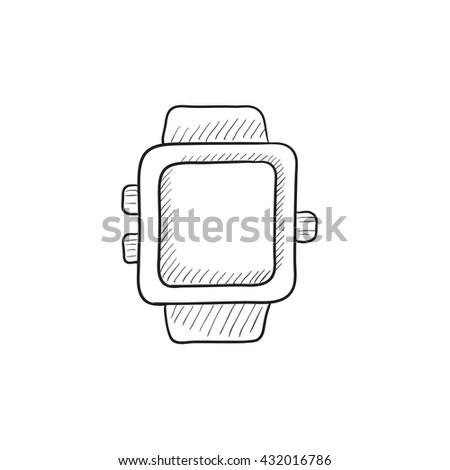 Smart Watch Outline Version 1 Stock Vector 261136751