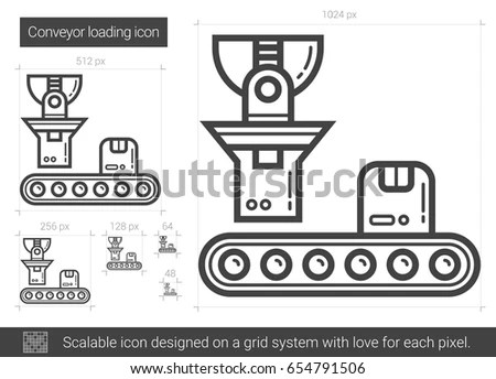 Manufacturing Production Line Symbol Stock Vector