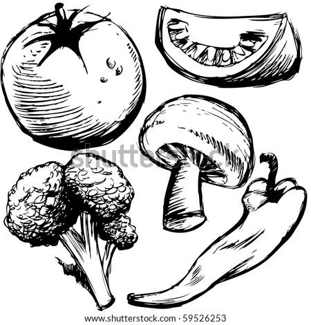 Drawing With Mushrooms Stock Images, Royalty-Free Images