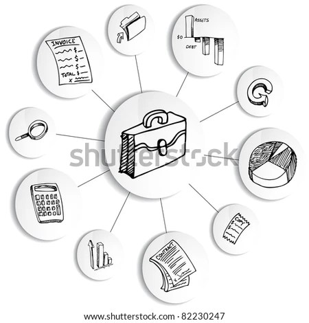 Image Business Financial Accounting Diagram Wheel Stock