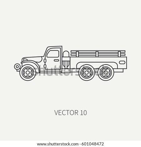 Line Flat Color Vector Icon Service Stock Vector 606142259