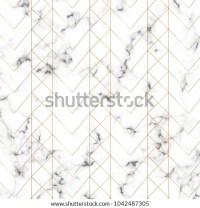 Modern Minimalist White Marble Texture Gold Stock Vector