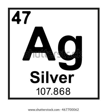 Periodic Table Element Argon Stock Vector 466669523