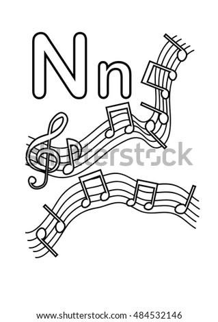 Cartoon Trumpet Simple Sketch Style Hand Stock