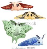 set cute colorful cartoon animated