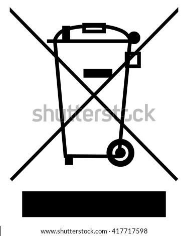 Crossed Out Wheelie Bin Bar Symbol Stock Vector (Royalty